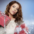 Women with a gift — Stock Photo #15627529
