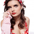 Pin-up girl. American style — Stock Photo