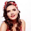 Pin-up girl. American style — Stock Photo #15761105