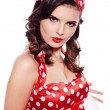 Pin-up girl. American style — Stock Photo #15761399