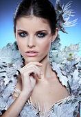 Fashion Beautiful Winter Woman — Stock Photo