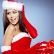 Christmas woman with gifts box — Stock Photo #16324171