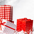 Christmas Gift Box with bauble. — Stock Photo #16356589