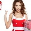 Attractive woman with many gift boxes and bags. — Stock Photo #16631349