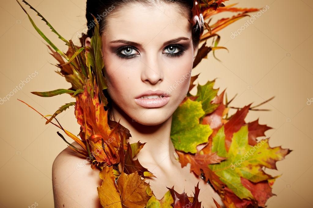 Фото стильная девушка осенью