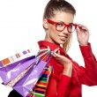 Beautiful shopping woman - Stock Photo