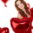 Stock Photo: The Valentines day celebrities