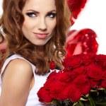 de dag van Valentijnskaarten beroemdheden — Stockfoto