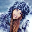 Stockfoto: Woman in winter park