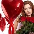 Saint Valentine day woman — Stock Photo #19055327