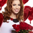 Saint Valentine day woman - Stock Photo