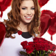 Saint Valentine day woman — Stock Photo