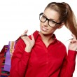 Beautiful shopping woman — Stock Photo #19447929