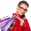 Beautiful shopping woman - Stockfoto