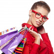 Beautiful shopping woman - Foto Stock