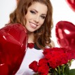 Saint Valentine day woman — Stock Photo #19601529