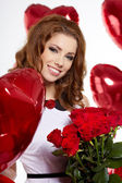 Saint Valentine day woman — Stock Photo