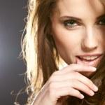 krásná žena portrét — Stock fotografie