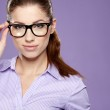 Business woman in glasses — Stock Photo #21120711
