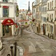 Street in paris - illustration — Stock Photo #21506213