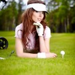 Womans Golf — Stock Photo