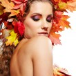 Beautiful autumn women. - Stock Photo