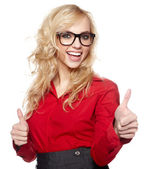 Smiling friendly secretary or assistant Smiling friendly secreta — Stock Photo