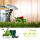 Conceito de placa jardinagem — Foto Stock
