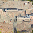 Aerial view background on italian medieval architecture roofs - Stock Photo
