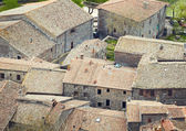 Aerial view background on italian medieval architecture roofs — Stock Photo