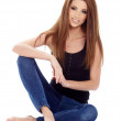 Sexy girl in blue jeans — Stock Photo #24740675