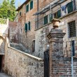 Italian old street . Tuscany - Stock Photo