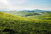 Vroege ochtend op platteland in toscane — Stockfoto