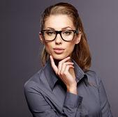 ビジネスの成功の女性。白い背景の上の分離 — ストック写真