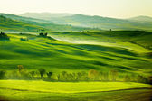 Landsbygden, san quirico orcia, toscana, italien — ストック写真