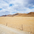 Yellowish mountain road view in tibet of China — Stock Photo
