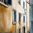 Street in Tuscany - illustration  — Stockfoto