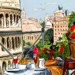 Street in Tuscany - illustration — Stock Photo