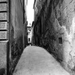 Old Tuscany street in BW — Stock Photo #27019705