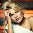 Stock Photo: Beautiful blonde woman
