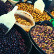Olive display on market stall — Stock Photo #27847341