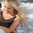 Happy lovers at the beach — Stock Photo #29061091