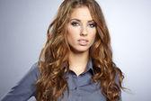 Portret piękny młody biznes — Zdjęcie stockowe