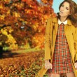 Stock Photo: Woman in the autumn park