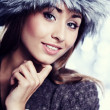 Smiling Winter Girl — Stock Photo