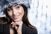 Smiling Winter Girl — Stock Photo