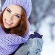 Young woman in winter — Stock Photo