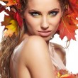 Stock Photo: Beautiful Autumn Woman portrait