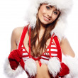 Glamour portrait of a  christmas woman — Stock Photo