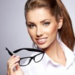 Stock Photo: Business woman in glasses